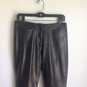 Iris Singer Dark Brown Lined Leather Pants Size 10